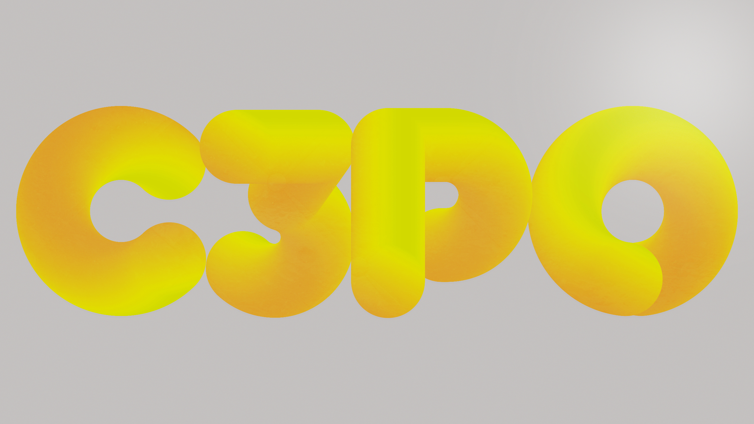 C3po Yellow 3d Bubble Letters Graphic Design
